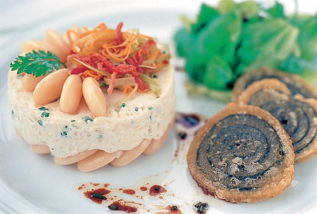 Mousse froide de Haricots Tarbais tempura